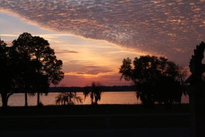 this was just one of our sunsets at Camp Blanding