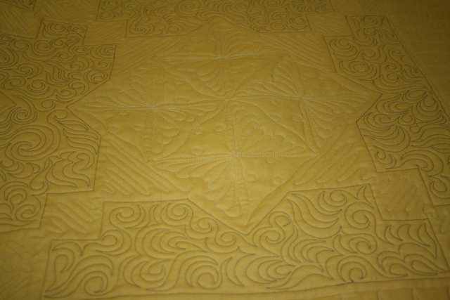 quilting on Zesty Amish