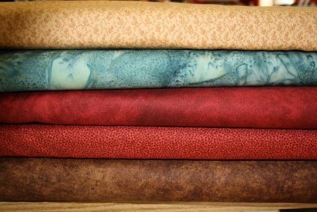 fabrics in the blocks for Cynthia