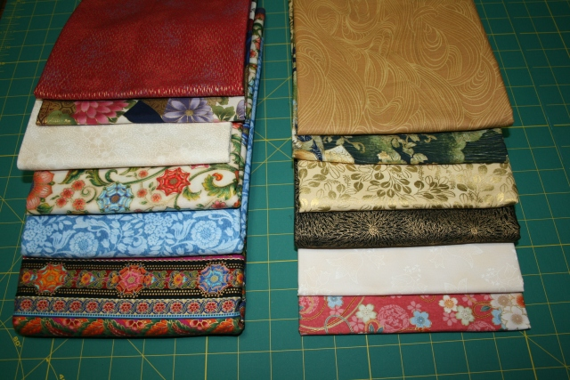 my Asian fabrics, they need to be high in contrast