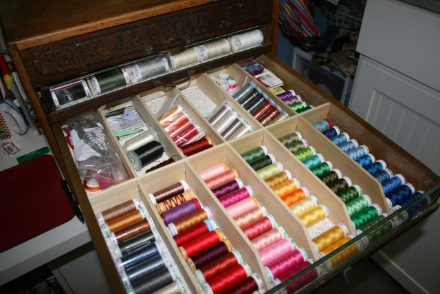 my third drawer, more threads
