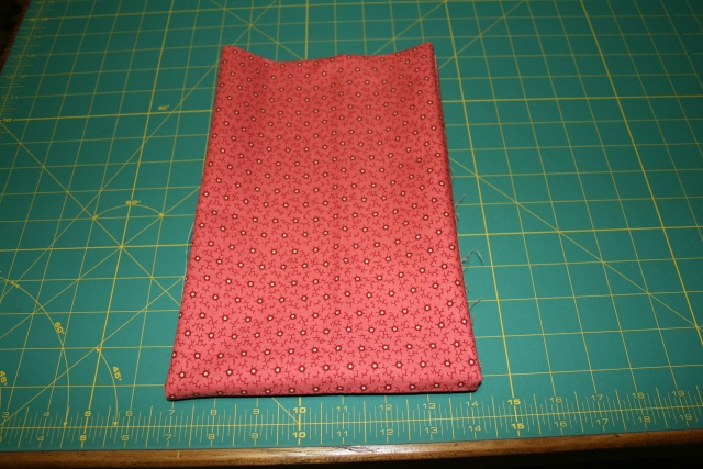 folded to 7 inches with fold facing out
