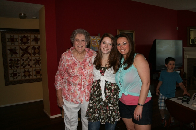 Mom, Katie and Angela