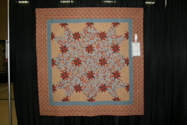 Rapid Fire Hunter's star, quilted by Denise Green.  this was a wedding gift for my son Kyle and his wife Kara in 2010.  my 3rd quilt
