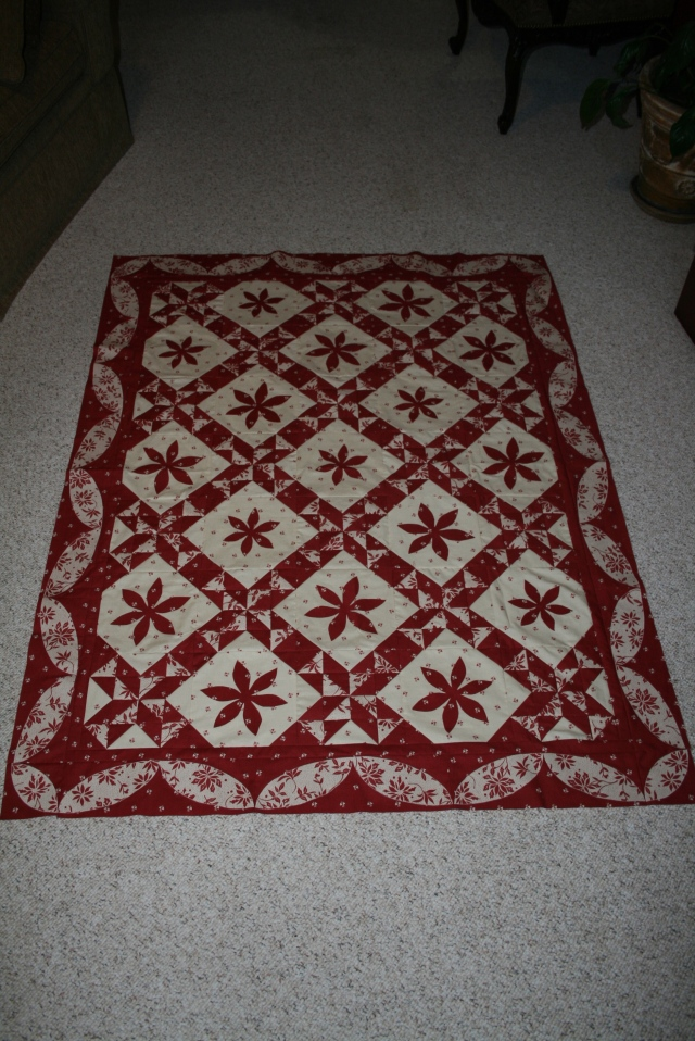 Christmas in Paris, started 10/15/2011, finished 11/21/2011 - not quilted yet