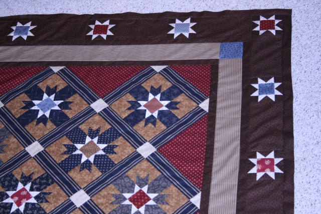 Victory Star by Red Crinoline Quilts, finished in February 2012 - not quilted yet