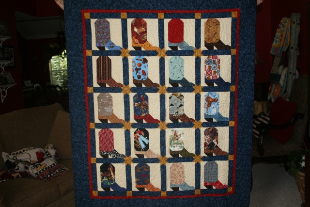this is the baby quilt I made for my grandson, Wyatt.  It is a little big for a baby quilt.