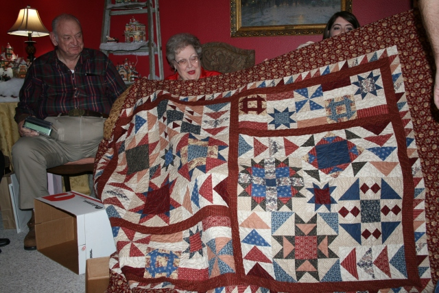 this was the quilt I made for my Mom and Dad for Christmas in 2010.  this pattern is Wild Goose Chase by Deborah Borsos