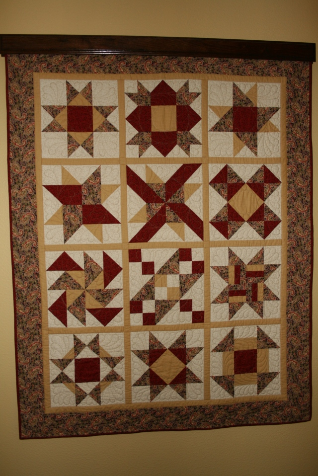 my very first quilt, my teacher was Linda Wells from Sew Contempo