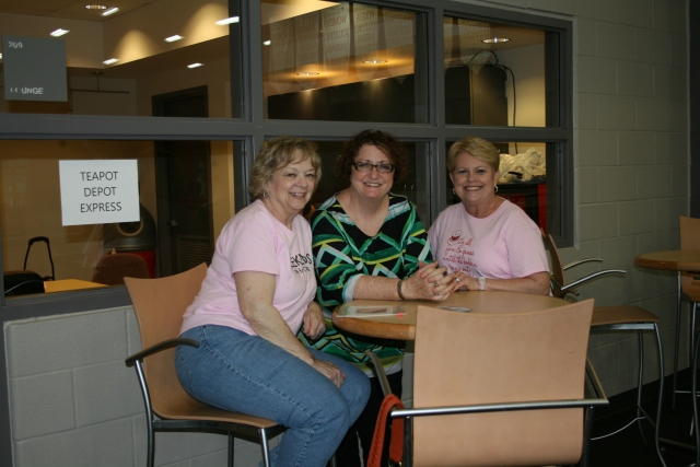 our guild president, Kathy, Jayne and Connie L
