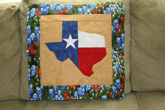 my Texas, now we need to quilt it and bind it