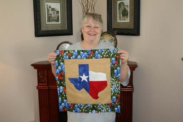 Julie and her finished Texas