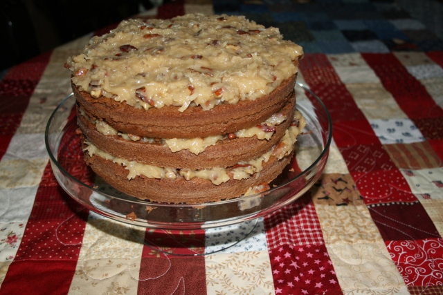 my German chocolate cake