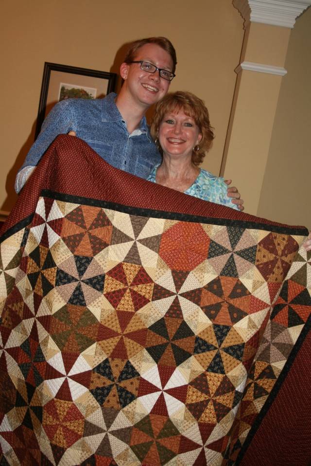 Philip and I with his quilt