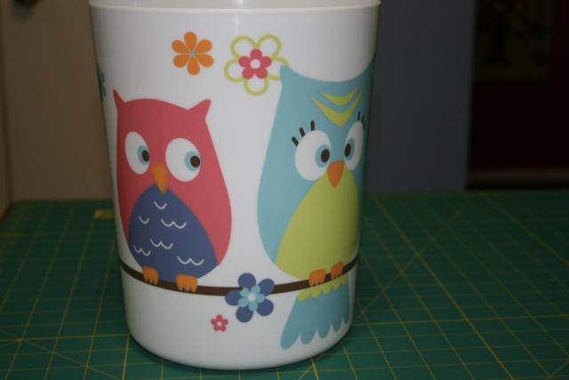 my cute owl trashcan