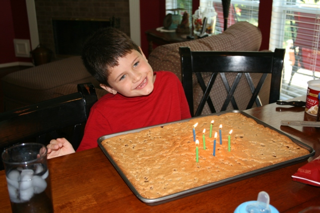 Dylan and his cookie cake