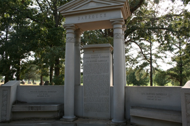 the monument for the Darrough family