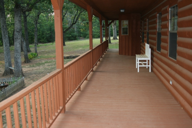 huge porch...one of these days - this is the back porch
