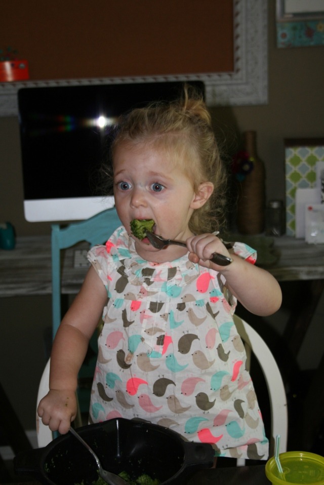 a big bit of broccoli