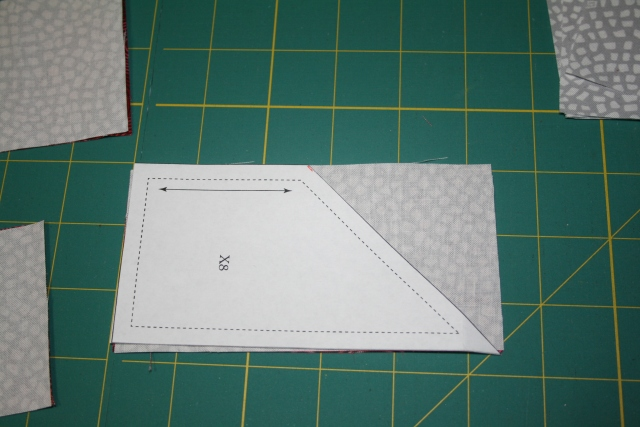 the fabric with the template