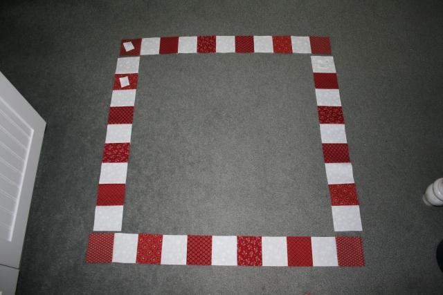 my checkerboard border