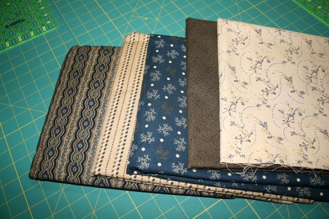 here are my border fabrics, I sure like them!