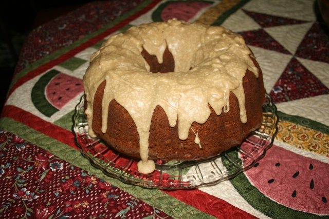 my Apple-Cream Cheese Bundt cake