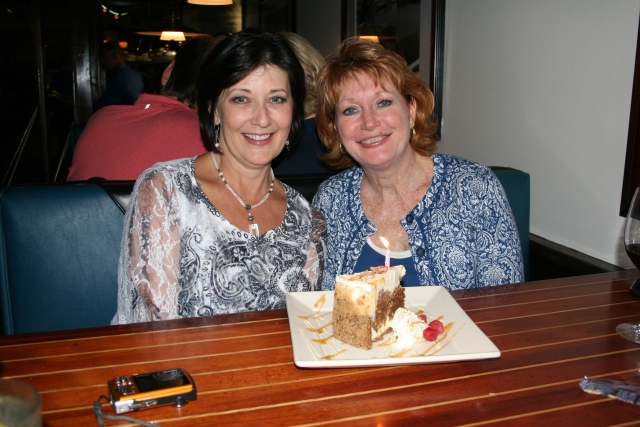 Birthday cake with my best friend, Cathy