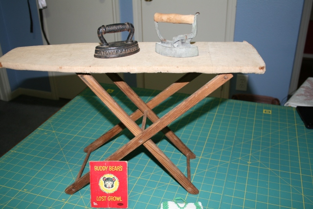 child ironing board and miniature irons