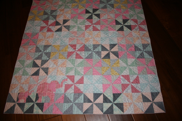 Kynlee's quilt is ready for binding and label