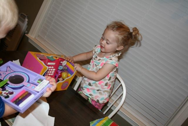 a little cash register for her kitchen