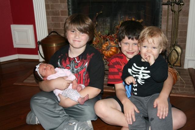 Jaiden, Dylan, Kynlee and Wyatt