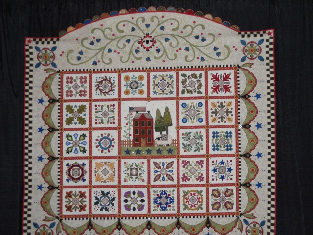 this one is made by the same person as the basket ABC quilt.  I loved both of them
