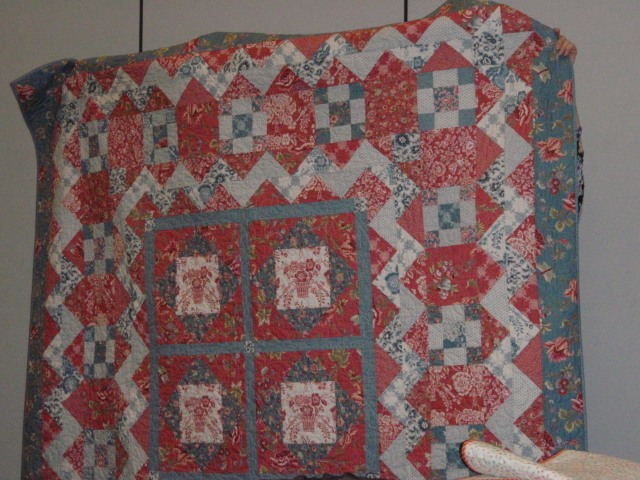 this was a French General quilt, love the red and blue