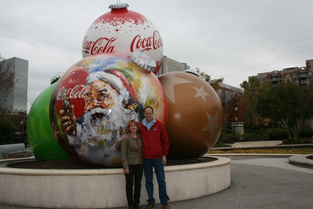 at the Coke-a-Cola museum
