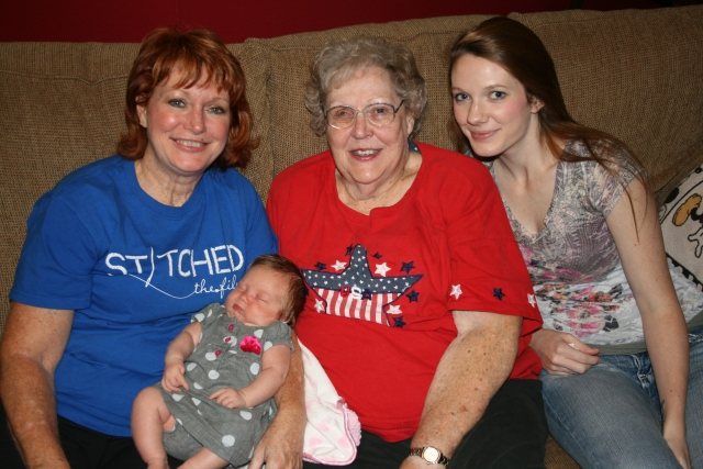 4 generations; Myself, Kynlee, Mom and Katie