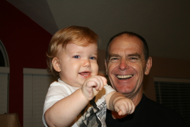 Wyatt and Popi - big smiles