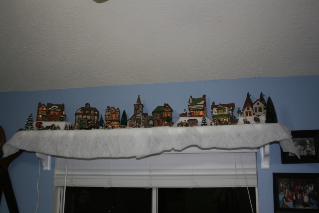 these are my Dickens houses, normally I have my old toys