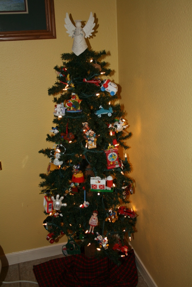 my toy tree, it is in the half bathroom it is taller than 2 ft