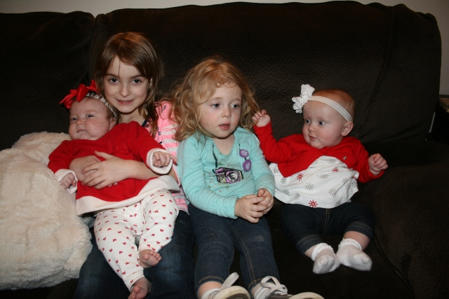 Kynlee, Emma, Hailey and Adley