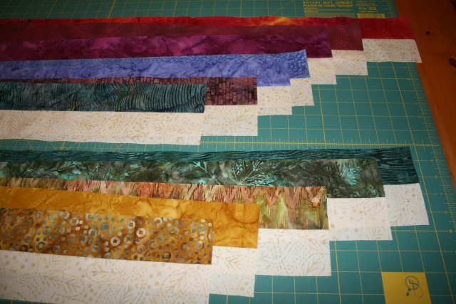 my strips sewn together