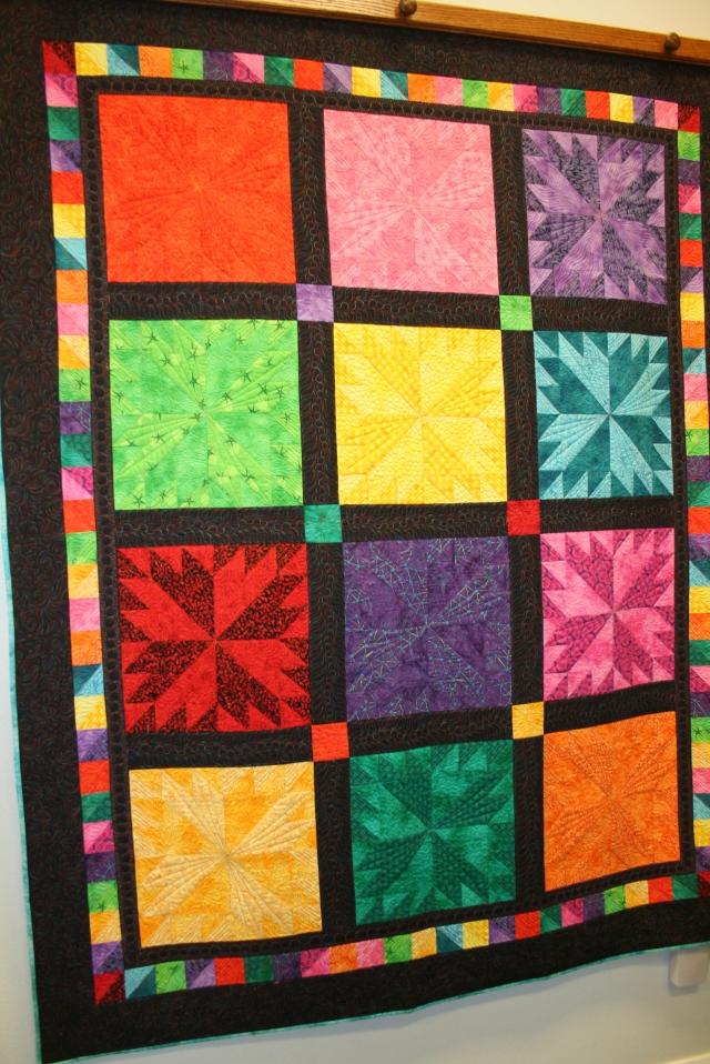this is quilt on display to show off the variegated thread