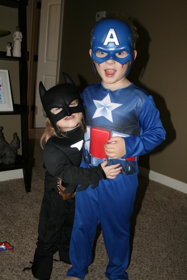 Batgirl and Capt America