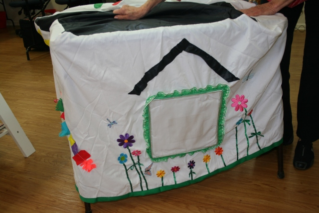 the card table tent Margie made