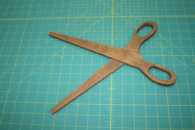 my wooden scissors from Tasha