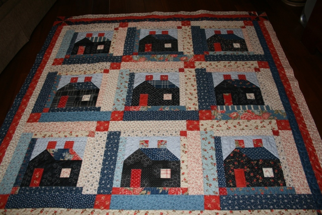 my house quilt that Cathy quilted