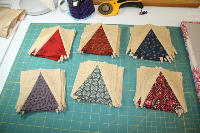 reproduction v-blocks all stitched