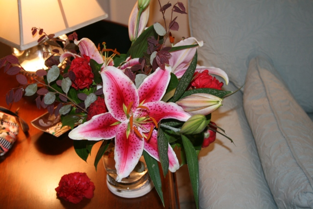 stargazer lilies - oh the  great smell