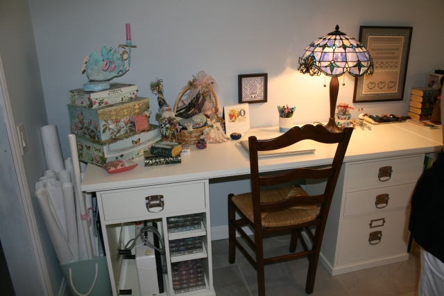 her sewing space