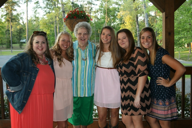 the girls and Mom